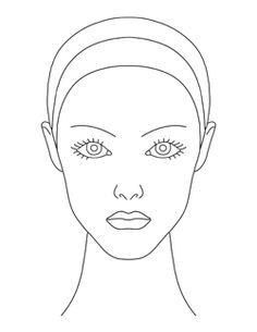 Blank Mac Face Charts Printable | Makeup !!!! | Pinterest | Face ...