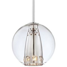 George Kovacs George Kovacs Bling Bang Pendant - Chrome With Clear Crystals - from Lumens Light + Living Globe Pendant Light, Mini Pendant Lights, Contemporary Pendant Lights, Modern Pendant Light, Ceiling Pendant, Pendant Lighting, Island Pendants, Diffused Light, Globe Lights