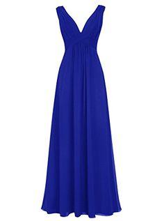 Dresstells® Women's V Neck Open Back Sleeveless Prom…