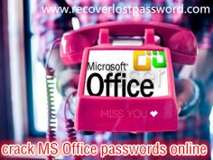 How to crack Microsoft Office passwords online? You can use an Office password recovery tool. #office