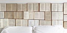 DIY Open Book Headboard