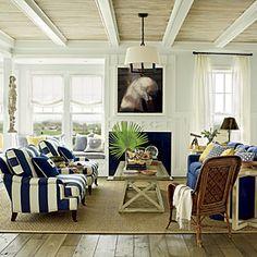2011 Ultimate Beach House Room Tour | The Living Room | CoastalLiving.com