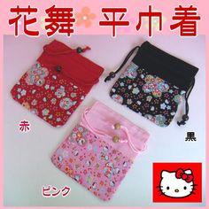 【Cool Japan】ハローキティ花舞 平巾着(レーヨンちりめん)Hello Kitty  ハローキティ HELLO KITTY はろうきてぃ【和風・和柄・和雑貨・和小物】 fs2gm【楽天市場】