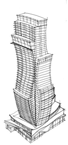 Black Paper Drawing, Architecture Sketches, Design Process, Skyscraper, Cinema, Tower, Concept, Drawings, Building