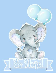 Your place to buy and sell all things handmade Dibujos Baby Shower, Imprimibles Baby Shower, Baby Shower Invitaciones, Pink Elephant Party, Cute Baby Elephant, Elephant Baby Showers, Elephant Theme, Baby Shower Unisex, Baby Boy Shower