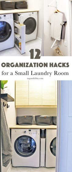 laundry room organization 12 Organization Hacks for a Small Laundry Room Small Laundry Closet, Laundry Room Organization, Laundry Room Design, Organization Hacks, Organization Ideas, Double Sliding Barn Doors, Best White Paint, Wire Shelving, Small Storage