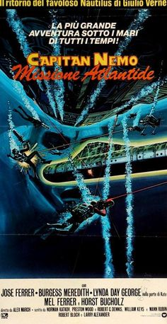 The Amazing Captain Nemo (1978) Original Italian Movie Poster