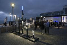 An impressive display from Quebec's own Lumca piqued the interest of many attending #landscape #architects. #lightupyourlandscape