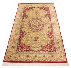 Signed masterpiece all-silk, handwoven Shamshadi Qom from the world-famous Shamshadi workshop of Qom, Iran. A fine example of Abraham's masterpiece collection. For more details, go to abrahamsrugs.com. #LuxeHoliday