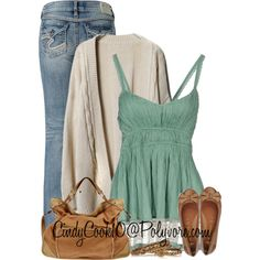 Tank and Jeans, created by cindycook10 on Polyvore
