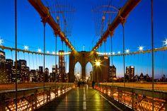 Le pont de Brooklyn entre jour et nuit, tout simplement magnifique!