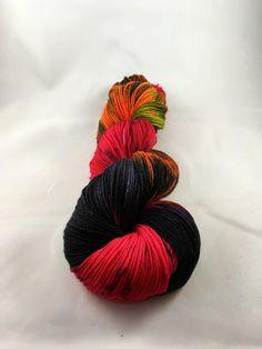 Hand dyed wool Superwash Merino wool hand by TheRainyAppleShoppe