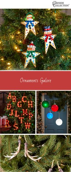 our favorite holiday activity is decorating the christmas tree with tons of ornament options