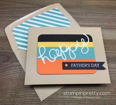 Stampin Up Fathers Day Card & Envelope By Mary Fish StampinUp