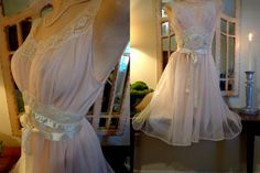 Vintage VANITY FAIR Gown or Dress PINK  Party by DixieDallas, $58.99