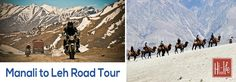 If you ever wished to experience the wonders of heaven on earth, then take Manali to Leh Road Tour. The tour takes you to some unseen wonders of nature which give you immense relaxation and adventure.
