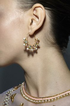 Manish Arora for Amrapali Jewelry Collection 10. These are very beautiful Indian inspired earrings.
