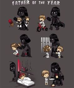 Darth Vader would have been a great father, but no, Obi-Wan needed Luke and . - Darth Vader would have been a great father, but no, Obi-Wan had to hide Luke and Leia … - Star Wars Rebels, Star Wars Witze, Star Wars Jokes, Star Wars Comics, Star Wars Party, Star Wars Fan Art, Darth Vader Father, Anakin Vader, Obi Wan