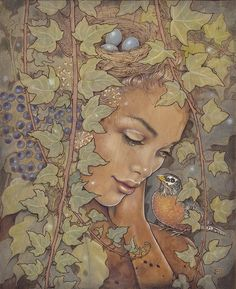 The art of Fay Helfer...pyrography and pigments..amazing art!!