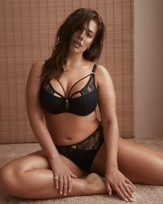 55e2d3ca6 Micro Jersey Demi Cup Diva Bra with Lace - Ashley Graham. Sports  Ilustrated