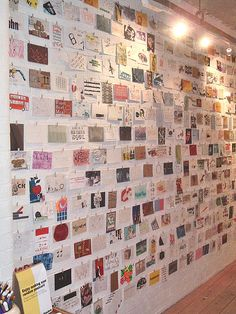 Postcard wall. @Elizabeth Lockhart Lockhart Lockhart Myers, you could start this.