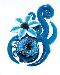 glass pipe with flower