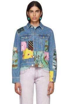Loewe - Indigo Paula's Ibiza Edition Patchwork Denim Jacket