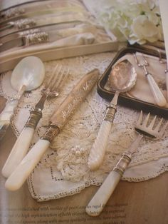 Mother of Pearl utensils