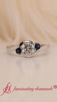 Trendy Jewelry, I Love Jewelry, Fashion Jewelry, Women Jewelry, Jewelry Trends 2018, Latest Jewellery Trends, Best Diamond, Diamond Rings, 3 Stone Engagement Rings