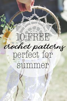 Ten Free Crochet Patterns Perfect for Summer - Megmade with Love