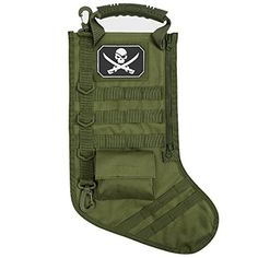 Tactical Military Christmas Stocking with Molle Gear Hanging Decoration  Black Green Red Green -- Want 45a6d593e