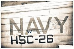 Aviation Photography, US Navy CH-60 Fuselage Badging: NAVY, Metallic Photographic Print