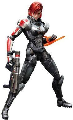 Mass Effect 3 Play Arts Kai Action Figur: Commander Shepard (Female)