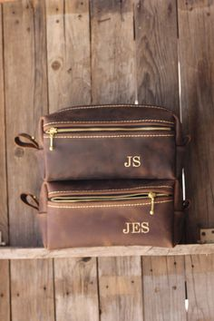 6e32f4f87583 Leather Dopp Kit Bag