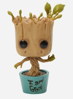 "Hot Topic Exclusive ""I Am Groot"" Dancing Groot Guardians of the Galaxy Pop! Marvel Vinyl Figure by Funko"