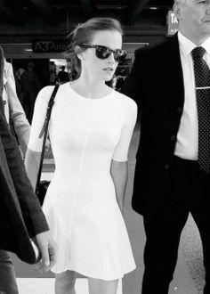 emma watson's white dress
