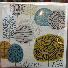 retro tree - print and pattern