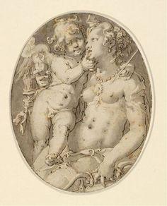 Joachim Anthonisz. Wtewael - Venus and Amor, c. 1610