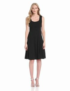 Anne Klein Women's Stretch Sleeveless Fit and Flair Dress