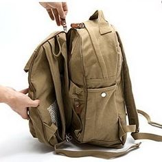 Utility 2 in 1 family canvas backpack