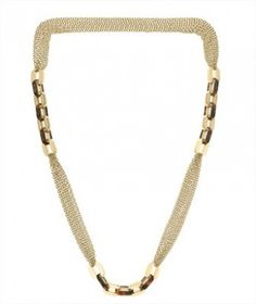 Colar Michael Kors Multi-Chain Link Necklace Golden Tortoise MKJ3085 #Colar #Michael Kors