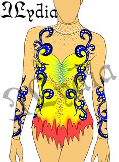 Competition Rhythmic gymnastic leotards Design Fiesta