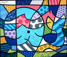 Romero Britto would make a great lesson on pattern...