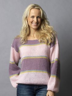 Familie Journal - strikkeopskrifter til hende Drops Design, Cardigans, Sweaters, Leather Bag, Cool Style, Robin, Journal, Pullover, Knitting