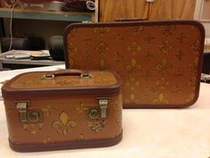 Painted luggage. Theatre sets