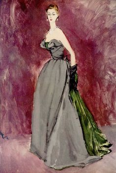 Dior, 1951. Illustration: Eric.