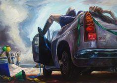 Ben Sheers Abandon - 2012 Oil on linen 108 x Beautiful Graffiti, Australian Art, International Artist, Gold Coast, Lovers Art, Contemporary Artists, Art Gallery, Fine Art, Sculpture