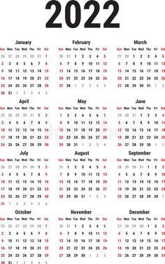 Gregorian Calendar 2022 Templates Printable Free, Printables, Blank Calendar Template, Bujo, Print Templates