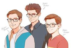 AWWW I love this!! ❤️ All of our Spideys! :)<<ANDREW WAS MY FAVORITE WHY COULDNT THEY HAVE KEPT HIM