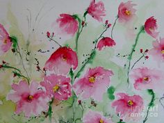 Flowers - Watercolor Painting Fine Art Print